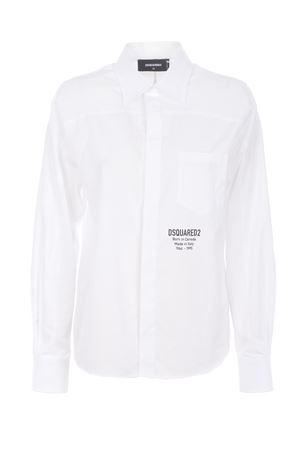 Dsquared2 shirt in cotton poplin DSQUARED | 6 | S75DL0733S36275-100