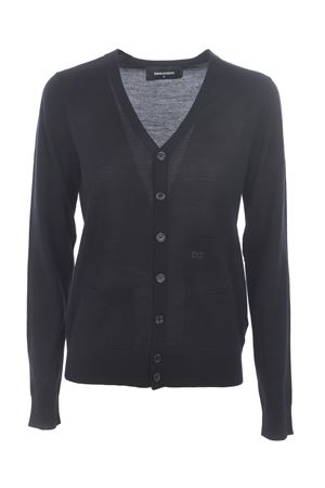 Dsquared2 cardigan in wool yarn