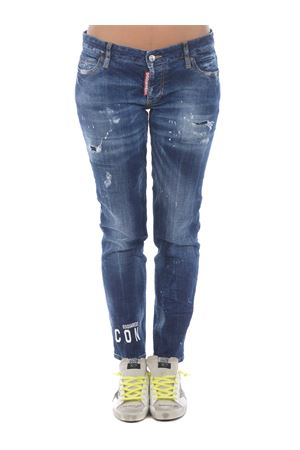 Dsquared2 jennifer cropped jean jeans in stretch denim DSQUARED | 24 | S80LA0012S30342-470