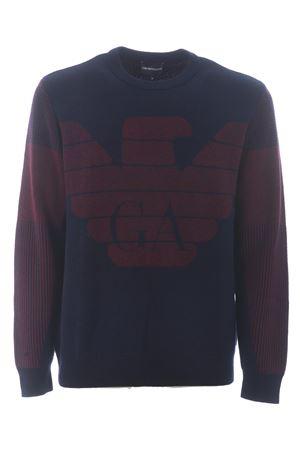 Emporio Armani sweater in virgin wool blend EMPORIO ARMANI | 7 | 6H1MXL1MHRZ-0958