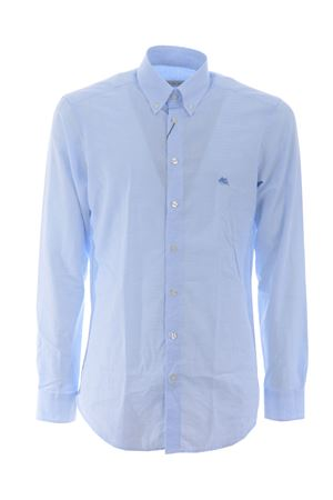 Camicia Etro Button down slim in cotone jacquard ETRO | 6 | 1K9643109-250