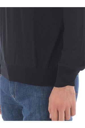 Fay sweater in black shaved wool. FAY | 7 | NMMC1412090SGQB999