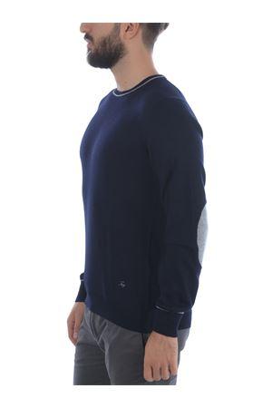 Fay sweater in dark blue wool. FAY | 7 | NMMC1412230FDS1850