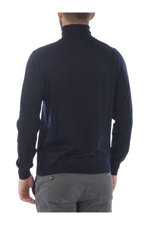 Fay turtleneck in dark blue virgin wool. FAY | 7 | NMMC1412440CQTU807