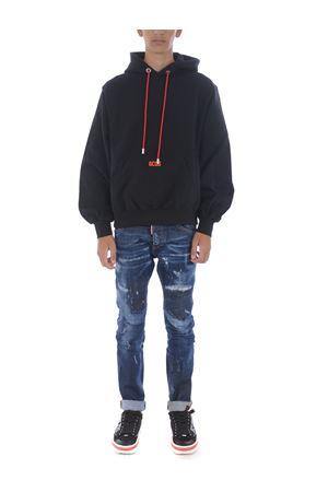 Felpa GCDS maxi hoodie GCDS | 10000005 | CC94M021002BLACK