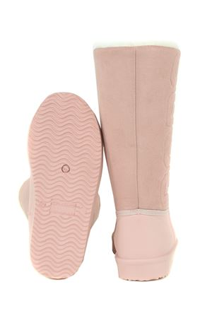 GCDS Winter Shearling Boot boots with rubber upper and suede upper GCDS | 76 | FW21W010098PINK