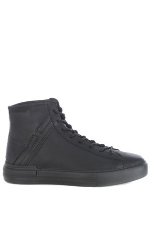 Hogan rebel hi-top sneakers in hammered leather HOGAN | 5032245 | HXM5260CW12O3RB999