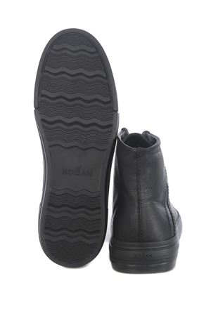 Hogan rebel hi-top sneakers in hammered leather HOGAN | 5032245 | HXM5260CW12O3RB999