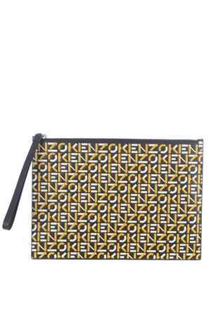 Kenzo monogram large pouch leather pouch KENZO | 62 | FA65PM902L4140