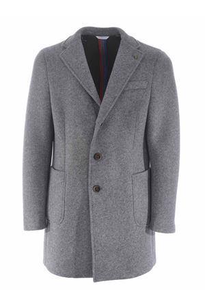 Manuel Ritz coat in wool cloth with neoprene effect  MANUEL RITZ | 17 | C4468MX203737-97