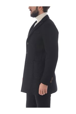 Manuel Ritz coat in wool cloth with neoprene effect  MANUEL RITZ | 17 | C4468MX203737-99