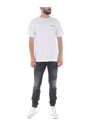 Marcelo Burlon County of Milan triangle outline basic t-shirt in cotton MARCELO BURLON | 8 | CMAA018E20JER0110110