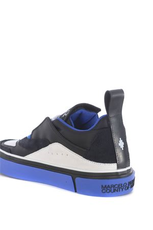 Marcelo Burlon County of Milan side wings vulcanized sneakers in suede and nylon MARCELO BURLON | 5032245 | CMIA086E20FAB0011043