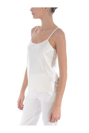 Max Mara Lory top in pure washed silk satin. MAX MARA | 40 | 11660107600133-001