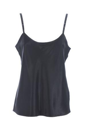 Max Mara Lory top in pure washed silk satin. MAX MARA | 40 | 11660107600133-005