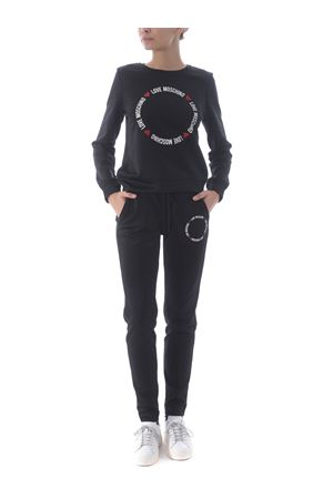 Love moschino jogging trousers in shiny nylon MOSCHINO LOVE | 9 | W1559E2168-C74
