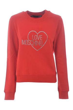 Felpa Love Moschino in cotone stretch