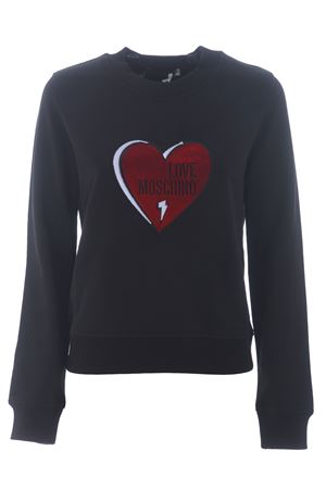 Love Moschino sweatshirt in stretch cotton MOSCHINO LOVE | 10000005 | W630485E2204-C74