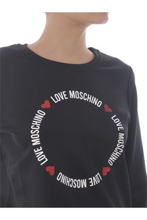 Felpa Love Moschino in misto viscosa stretch