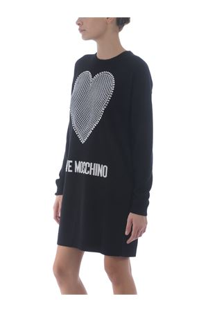 Love Moschino dress in wool and cashmere blend