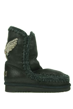 Mou Eskimo24 Eagle Patch ankle boots in metallic nubuck MOU | 76 | FW101006BCBK