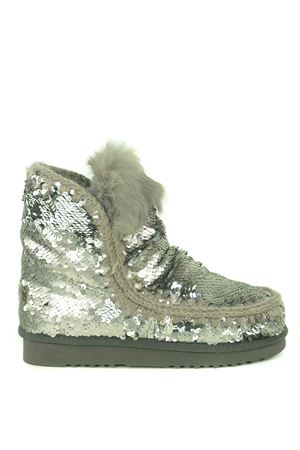 Mou Eskimo all sequins rabbit suede ankle boots MOU | 76 | FW101015GSEQ-GUN