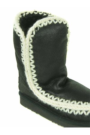Mou Eskimo 24 ankle boots in crackle effect leather MOU | 76 | FW101023BCBK