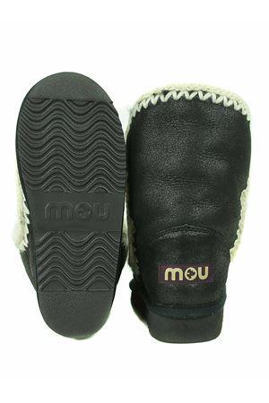 Stivaletti Mou Eskimo 24 in pelle nera effetto cracklè MOU | 76 | FW101023BCBK