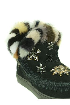 Mou Eskimo Sneaker Star Patch-Mink suede ankle boots MOU | 5032245 | FW111006ABKB