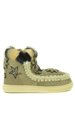 Mou Eskimo Sneaker Star Patch-Mink suede ankle boots MOU | 5032245 | FW111006AELGR