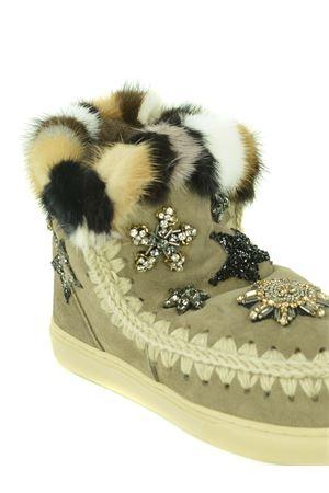Stivaletti Mou Eskimo Sneaker Star Patch-Mink in camoscio MOU | 5032245 | FW111006AELGR
