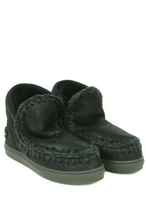 Mou Eskimo Sneaker Rhinestone ankle boots in metallic nubuck MOU | 5032245 | FW111020BCBK