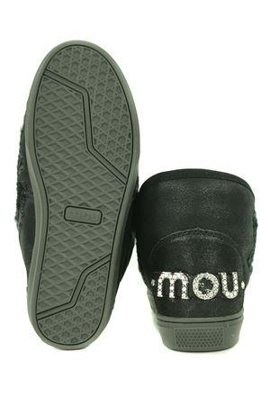 Stivaletti Mou Eskimo Sneaker Rhinestone in nabuk metallizzato MOU | 5032245 | FW111020BCBK