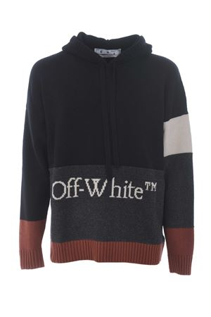 OW color block off sweater in color block wool OFF WHITE | 7 | OMHA094F20KNI0011001