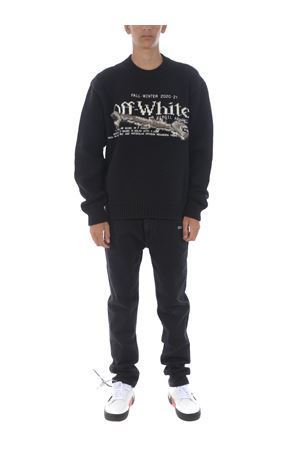 OFF WHITE pascal tool sweater in wool blend OFF WHITE | 7 | OMHE054F20KNI0031001
