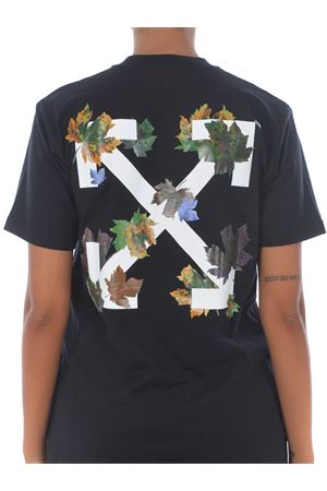 Off White leaves arrow casual cotton T-shirt OFF WHITE | 8 | OWAA049E20JER0141001