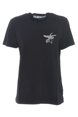 Off White embroidered bird reflective cotton t-shirt OFF WHITE | 8 | OWAA049F20JER0061009