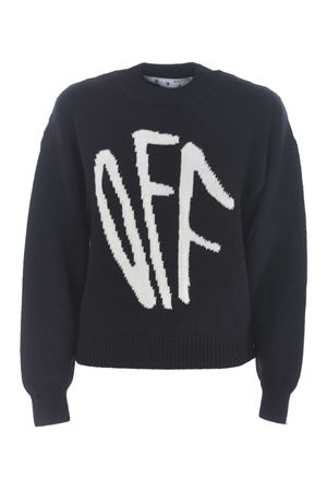 Off-White c / o Virgil Abloh pullover in wool blend. OFF WHITE | 7 | OWHE017F20KNI0011001
