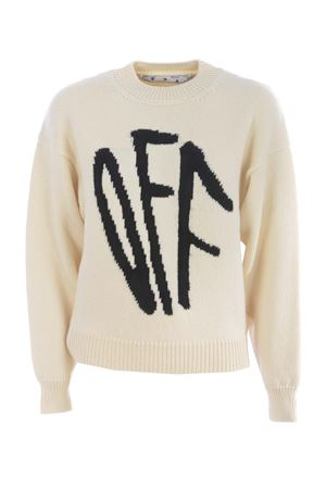 Off-White c / o Virgil Abloh pullover in wool blend. OFF WHITE | 7 | OWHE017F20KNI0016110