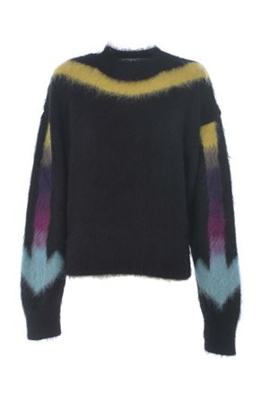 Off White fuzzy arrow sweater in alpaca and mohair OFF WHITE | 7 | OWHE036E20KNI0011084
