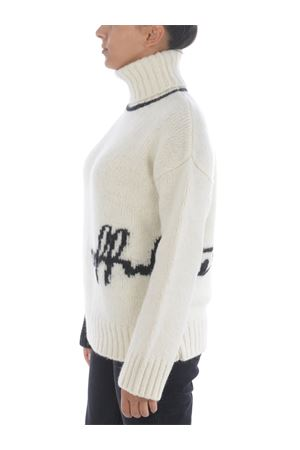 Off White logo inlay sweater in alpaca wool blend OFF WHITE | 7 | OWHF008E20KNI0010110