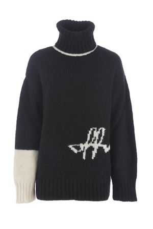 Off White logo intarsio sweater in alpaca wool blend OFF WHITE | 7 | OWHF008E20KNI0011001