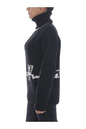 Off White logo intarsio sweater in alpaca wool blend OFF WHITE | 7 | OWHF008E20KNI0011001