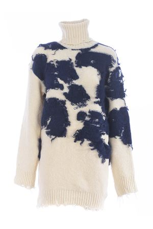 Off White moo turtleneck sweater in wool and mohair blend OFF WHITE | 7 | OWHF013F20KNI0016145