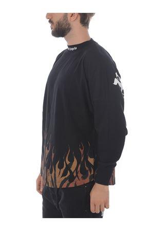 T-shirt Palm Angels tiger flames logo over PALM ANGELS | 8 | PMAB001E20JER0011020