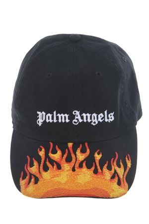 Palm Angels burning canvas baseball hat PALM ANGELS | 26 | PMLB003E20FAB0071001