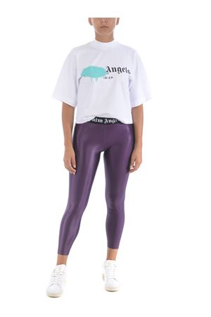 Palm Angels crop t-shirt ibiza sprayed logo in cotton PALM ANGELS | 8 | PWAA020F20JER0020147
