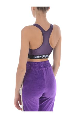 Palm Angels sports top classic logo sport bra in lycra PALM ANGELS | 40 | PWFA009F20FAB0013701
