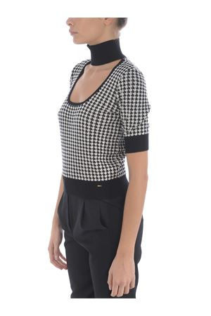 Pinko top cut-out in jaquard pied de pouile