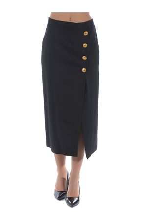Pinko black wool blend midi wallet skirt. PINKO | 15 | 1B14SH-6116Z99